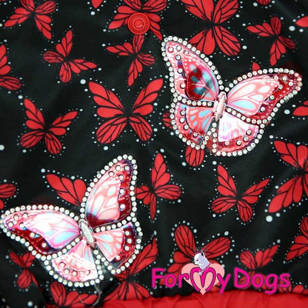raincoat female with butterflies print dv-001f