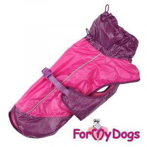 raincoat with high collar in red dv-004