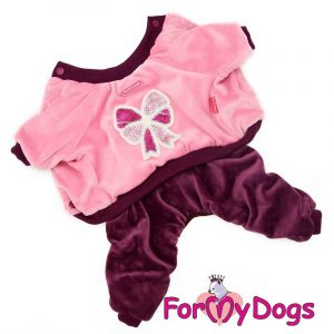 suit for dogs in pink-burgundy kc-012f