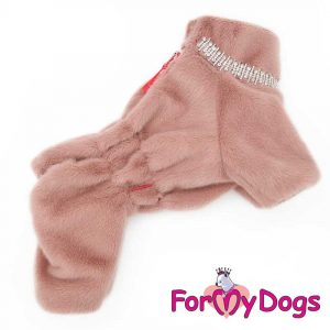 Overall Female Dog in Pink km-004f