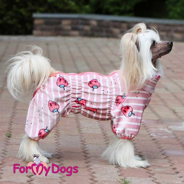 female overall for dogs in pink 7