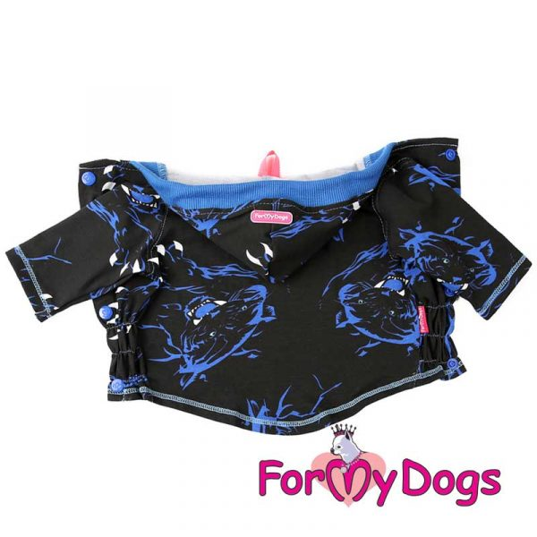 hoodie windbreaker in dark blue kt-001
