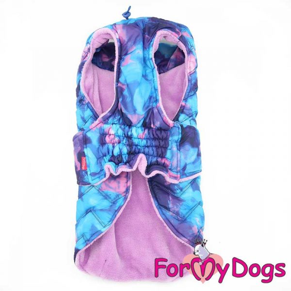 vest with wide collar in blue kt-014