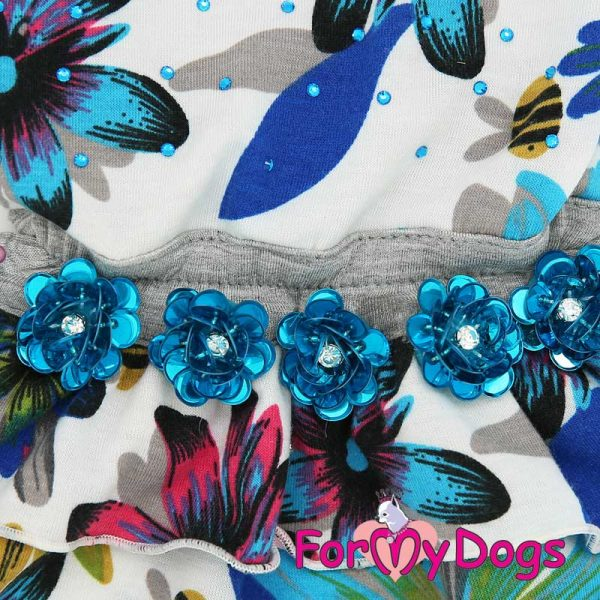 dress female with a pattern of flowers pl-001f